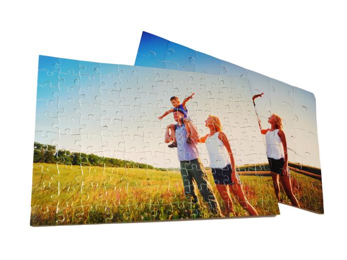 foto op puzzel met of zonder doos