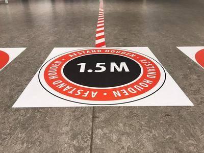 Vloersticker 130x165 cm