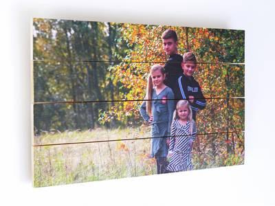 Foto op vurenhout 20x20 cm
