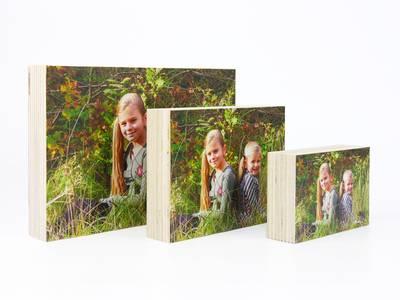 Houten fotoblok 15x20 cm
