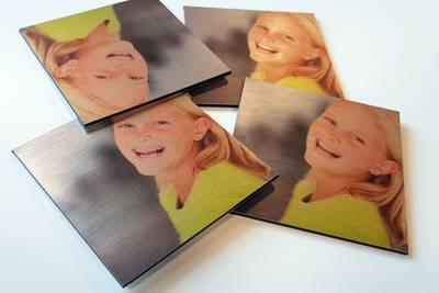 Onderzetters met foto 9x9 cm