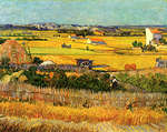 -  - Harvest at La Crau with Montmajour in the Background.jpg